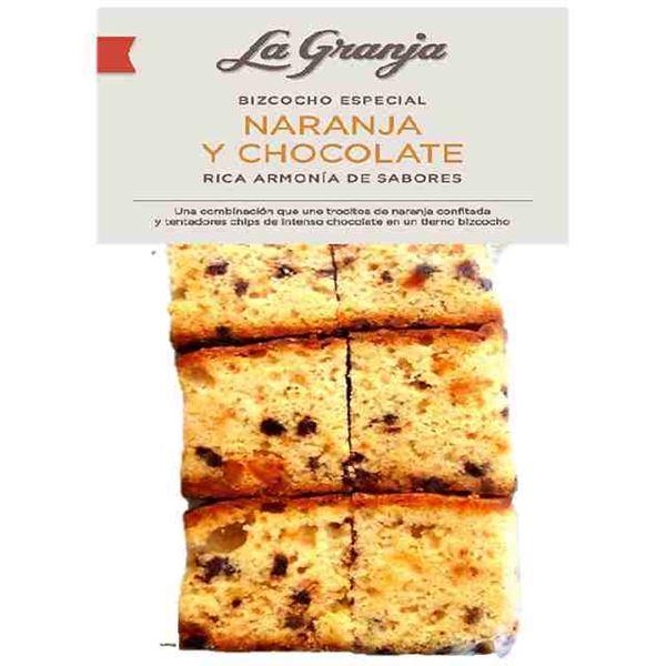 BIZCOCHO DE NARANJA Y CHOCOLATE - LA GRANJA