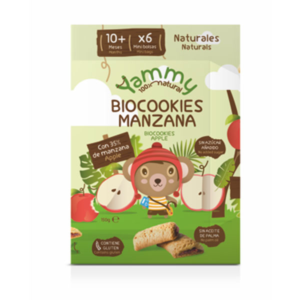 GALLETAS bio cookies MANZANA - YAMMY BABY
